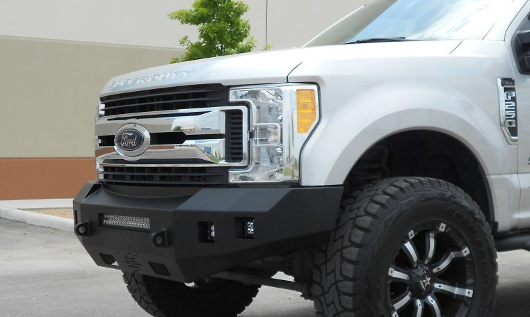Heavy Duty Front Bumper Replacement Smooth No Grill Guard